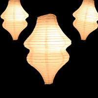 "15"" BEIGE / IVORY BEEHIVE UNIQUE SHAPED PAPER LANTERN"