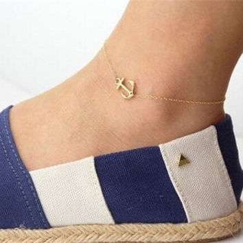 Shiny Sexy Jewelry Cute New Arrival Gift Stylish Fashion Accessory Pendant Gold Ladies Anklet [6768766343]