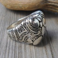 925 Sterling Silver Engraved Ring