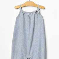 Gap Baby Railroad Stripe Denim One Piece