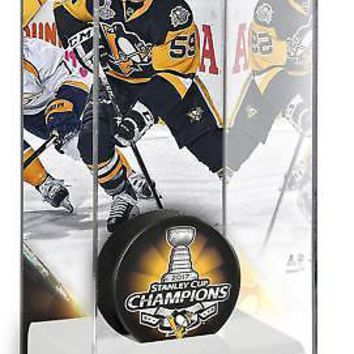 Jake Guentzel Pittsburgh Penguins '17 Stanley Cup Champs Logo Hockey Puck Case