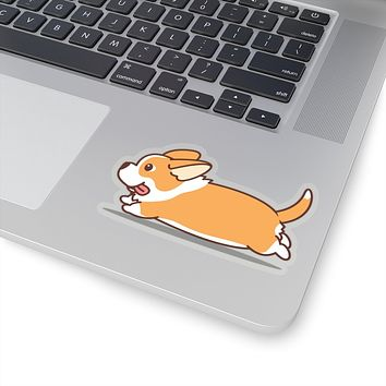 Running Corgi Sticker Decal, Sticker Decal, Animal Sitcker, Dog Sticker
