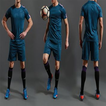 Free Shipping 2018 New Men's Soccer Jerseys Set Atrovirens Invisible Green Can Customized Soccer Uniforms Football Team Kit Suit