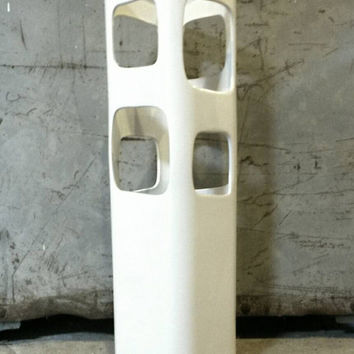 White Ceramic Modern Vase Geometric Design Tall Floral Arrangements Dining Room Table Center Piece Wedding Decor Place Setting Dinner Table