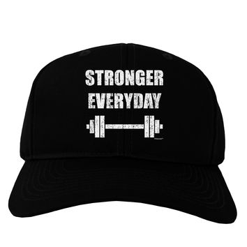 Stronger Everyday Gym Workout Adult Dark Baseball Cap Hat