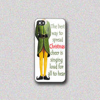 Funny Christmas Elf Quotes - Print on Hard Cover for iPhone 4/4s, iPhone 5/5s, iPhone 5c - Choose the option in right side