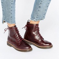 New Look Leather Look Lace Up Work Boot at asos.com