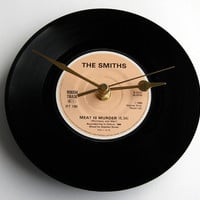 "The Smiths Record Clock. ""Meat Is Murder"" from original 7inch vinyl. Boxed. Gift for Vegetarians perhaps...."