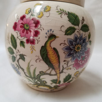 Sadler Floral Designed Ginger Jar (875)