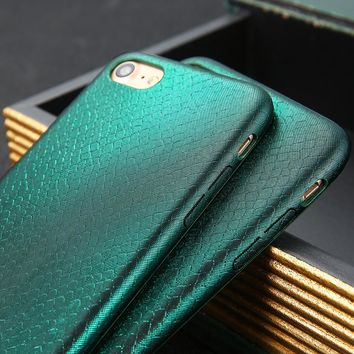 Aurora Snake Scales Phone Cases For iphone 7 6 6s Plus