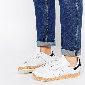 Adidas | adidas Originals Stan Smith Lux With Cork Sole Sneakers at ASOS