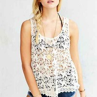 Ecote Daydreaming Crochet Tank Top - Urban Outfitters