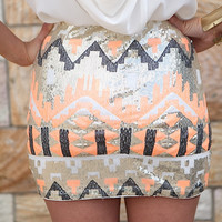 PRE ORDER - STACCATO SKIRT(Expected Delivery 8th August, 2014) , DRESSES, TOPS, BOTTOMS, JACKETS & JUMPERS, ACCESSORIES, 50% OFF , PRE ORDER, NEW ARRIVALS, PLAYSUIT, COLOUR, GIFT VOUCHER,,Print,Orange,Sequin,MINI Australia, Queensland, Brisbane