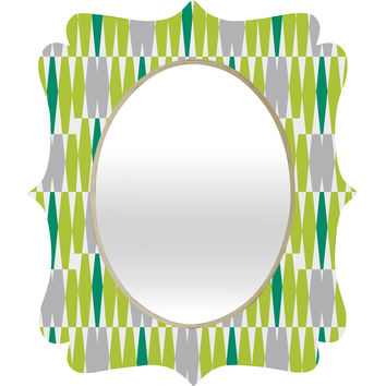 Heather Dutton Abacus Emerald Quatrefoil Mirror