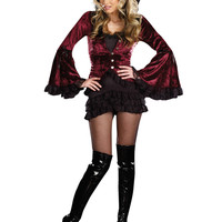 Bell Sleeve Vamp Costume Set