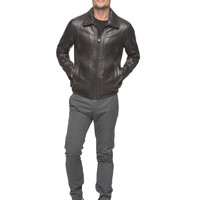 Andrew Marc - Yonkers - Leather Bomber Jacket