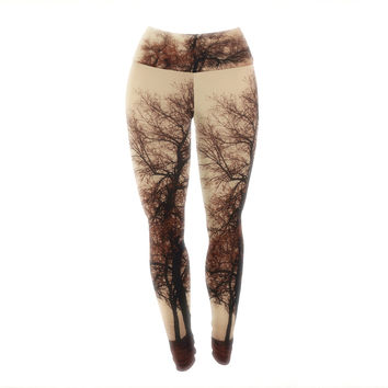 "Sylvia Coomes ""Rust Trees"" Photography Nature Yoga Leggings"