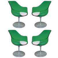 Four Beautiful Swivel Chairs by Laverne, Aluminium, Perspex circa 1970
