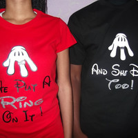 Put A Ring On It Marriage and Engagements Couples T Shirts