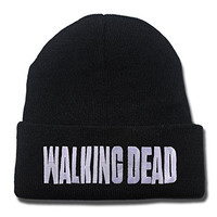 The Walking Dead Logo Beanie Fashion Unisex Embroidery Beanies Skullies Knitted Hats Skull Caps