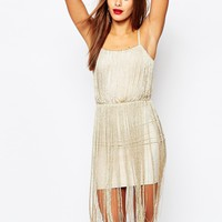 Missguided Strappy Full Tassel Mini Dress