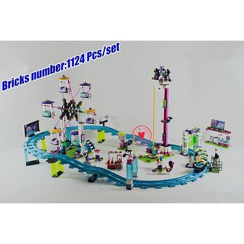 10563 Friends Amusement Park Roller Coaster Model Building Blocks bricks Girls Toy 41130 Compatible legoes friends gift kid set