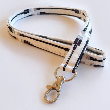 Tech Lanyard / USB Keychain / Cute Lanyards / Key Lanyard / ID Badge Holder / Fabric Lanyard / Computers / PC Tech / Cool Lanyards / Techie