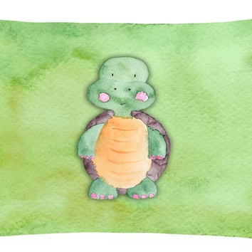 Turtle Watercolor Canvas Fabric Decorative Pillow BB7382PW1216