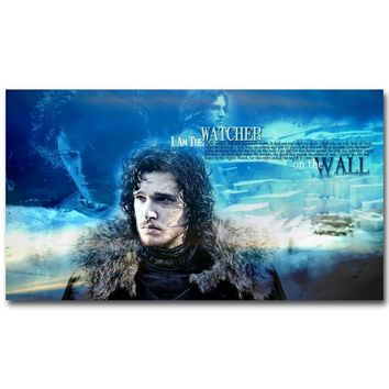 Game Of Thrones Art Silk Fabric Poster Print 13x24 20x36inch TV Series Jon Snow Picture for Wall Decor 31