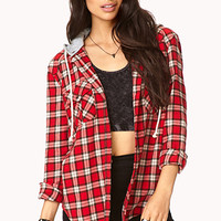 Plaid Flannel Shirt w/ Hood