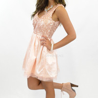 Diary Of A Princess Blush Sequin Dress