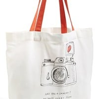 Women's Nordstrom at Home 'Are You a Camera?' Tote - Ivory