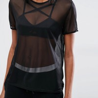 Missguided Mesh T-Shirt