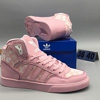 Adidas & Supreme & LV high tops men and women trendy fashion shoes F-CSXY pink