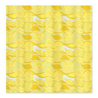 Floral Shower Curtain - Yellow Roses - Ornaart Design