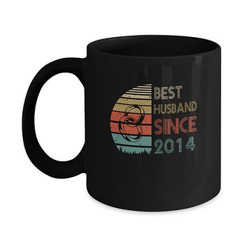 5th Wedding Anniversary Gifts Best Husband Since 2014 Mug