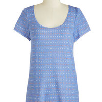 ModCloth Mid-length Short Sleeves Artfully Arranged Top