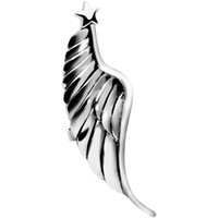 925 Silver Star Topped Angel Wing Ear Cuff | Body Candy Body Jewelry