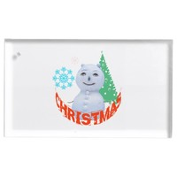 Christmas Tree And Snowman Table Number Holder