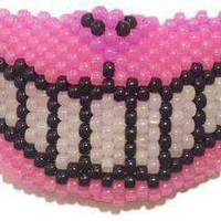 Glow In The Dark Cheshire Cat Kandi Mask Full
