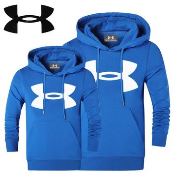 UNDER ARMOUR Women Men Lover Top Sweater Hoodie Light blue