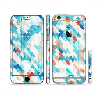 The Modern Abstract Blue Tiled Sectioned Skin Series for the Apple iPhone 6 Plus