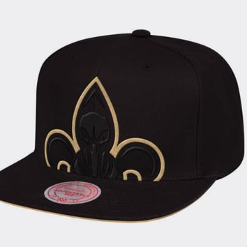 New Orleans Pelicans Mitchell & Ness NBA Cropped XL Logo Snapback Cap