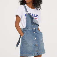 Bib Overall Dress - Denim blue - Ladies | H&M US