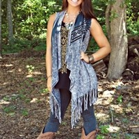 Little Black Rodeo Fringe Vest