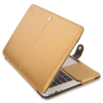 Mosiso for Macbook Air 11 13 inch PU Leather Sleeve Case Cover Black Brown Mac Air 13.3 model A1369 A1466