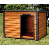 Log Cabin Style Outdoor Dog House Shelter 44.4L x 26.2W x 29.5H inch