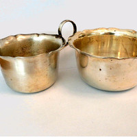Vintage Sugar Bowl and Creamer,Yeoman Silver plate,  EPNS, Made in England, Silver Open Sugar Bowl and Creamer