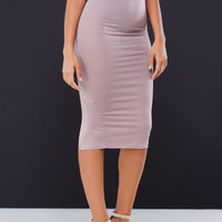 Just A Little Slit Midi Pencil Skirt GoJane.com