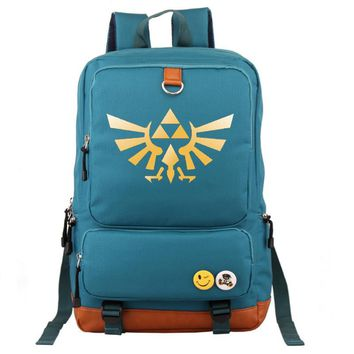 The Legend of Zelda Backpack Unisex Fashion Backpack Laptop Backpack Blue school bag